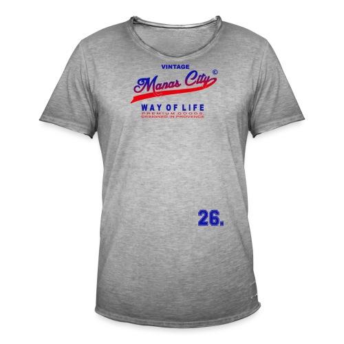Manas City - T-shirt vintage Homme