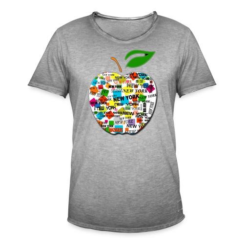 ny apple - Maglietta vintage da uomo