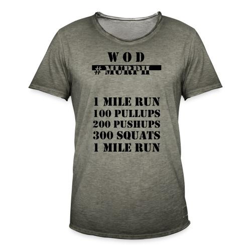 W O D Murph black - Vintage-T-shirt herr