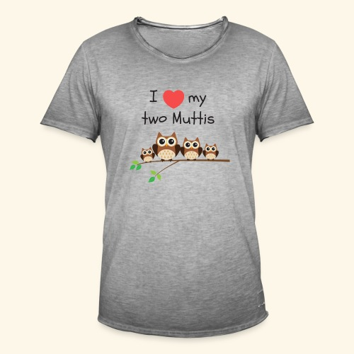 I love my two Muttis - T-shirt vintage Homme