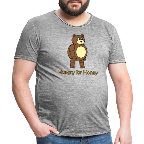 Bär - Hungry for Honey - Männer Vintage T-Shirt