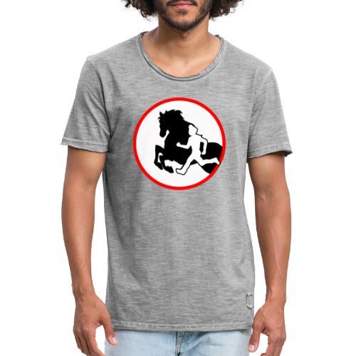 Horse Agility Logo - Männer Vintage T-Shirt