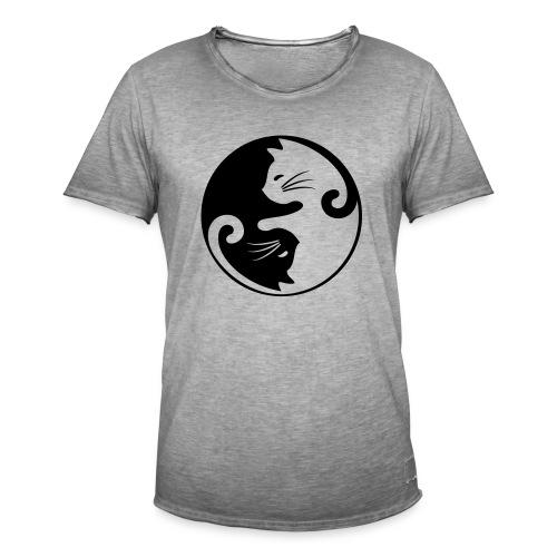 Vorschau: yin yang cat - Männer Vintage T-Shirt