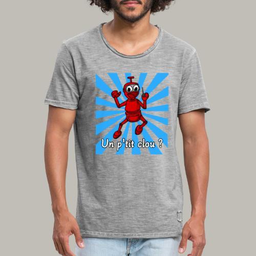 Back to 80's blue - T-shirt vintage Homme
