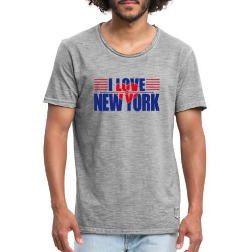 love new york - T-shirt vintage Homme