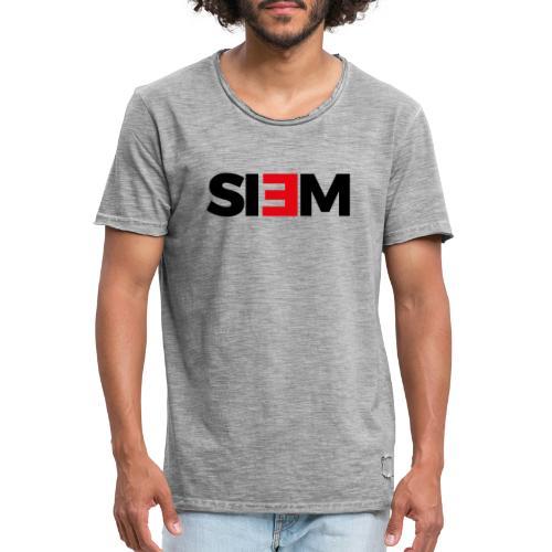 siem_zwart - Mannen Vintage T-shirt