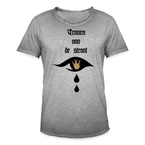 Tranen van de straat - Mannen Vintage T-shirt