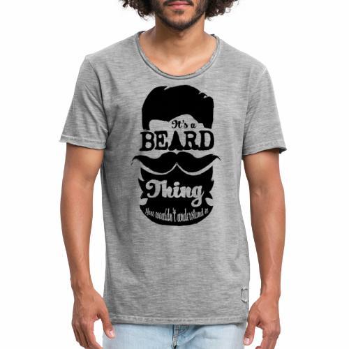 Beard Thing - Mannen Vintage T-shirt