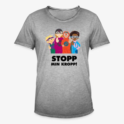 Stopp min kropp! - Vintage-T-shirt herr