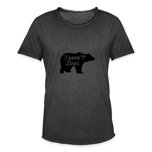 love beer - Mannen Vintage T-shirt