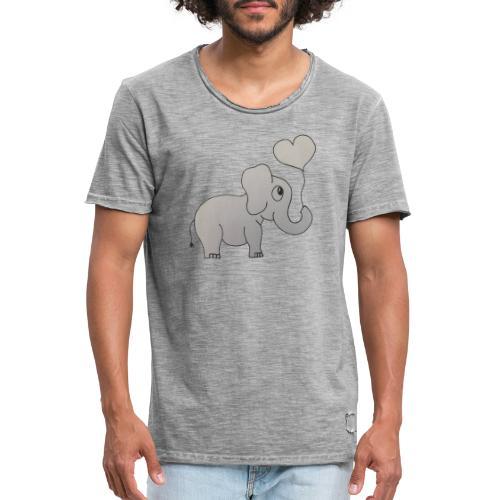 LackyElephant - Männer Vintage T-Shirt