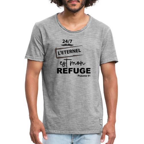 247 Éternel mon refuge en noir - T-shirt vintage Homme
