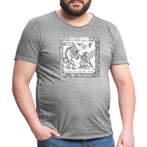 Le Dieu Odin contre le loup Fenrir - T-shirt vintage Homme