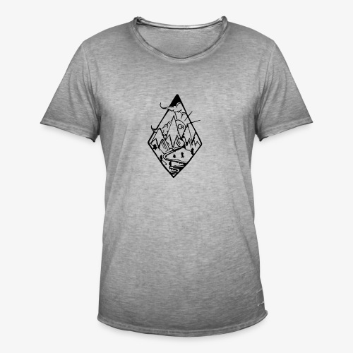 losange cr - T-shirt vintage Homme