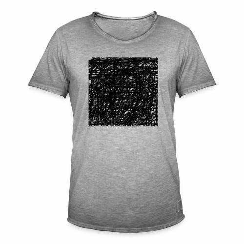 Kritzel-Design - Männer Vintage T-Shirt