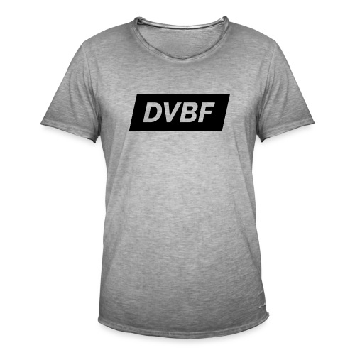 DVBF Svart - Vintage-T-shirt herr