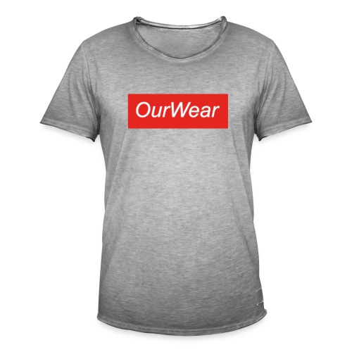Red OurWear Merch - Vintage-T-shirt herr