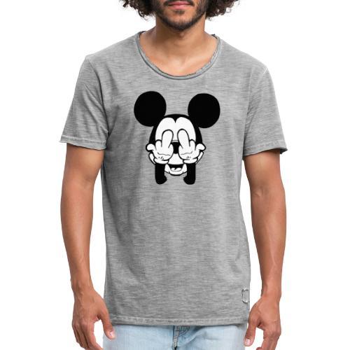 musse svart - Vintage-T-shirt herr