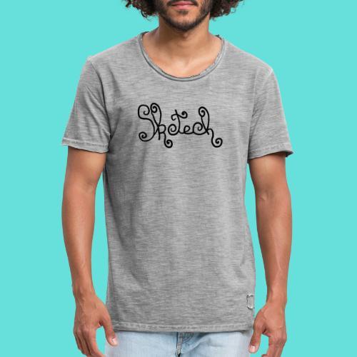 sketch - T-shirt vintage Homme