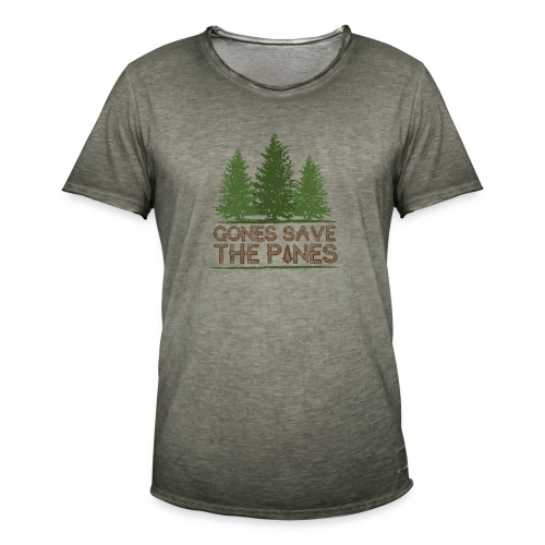 Gones save the pines - T-shirt vintage Homme