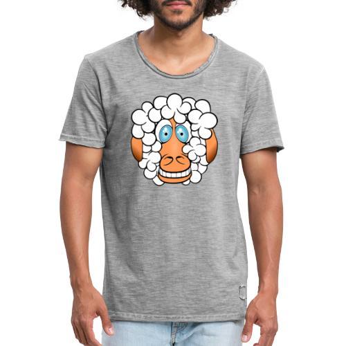 bad hair day crazy sheep - Männer Vintage T-Shirt