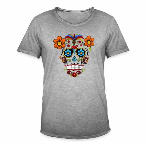 Calavera transparente - Camiseta vintage hombre