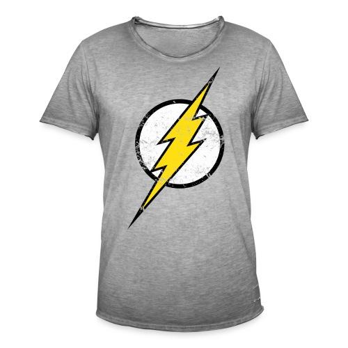 DC Comics Justice League Flash Logo - Männer Vintage T-Shirt