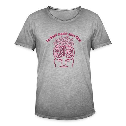 Im Kopf Sinn 1c - Männer Vintage T-Shirt