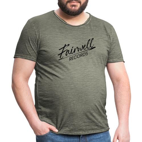 Fairwell Records - Black Collection - Herre vintage T-shirt