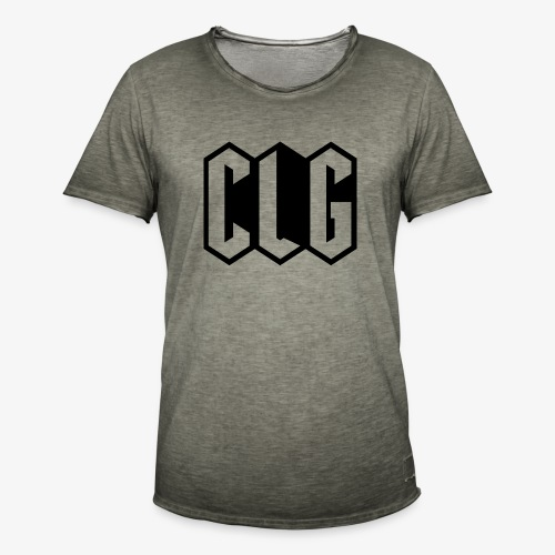 CLG DESIGN black - T-shirt vintage Homme