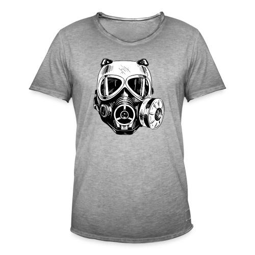 Gas Mask - Koszulka męska vintage