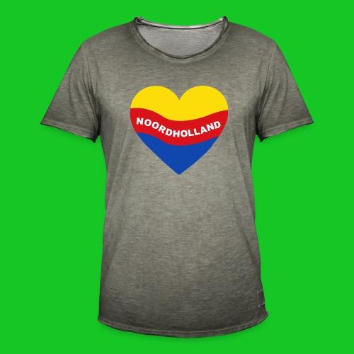 Love Noord Holland Hart.png - Mannen Vintage T-shirt