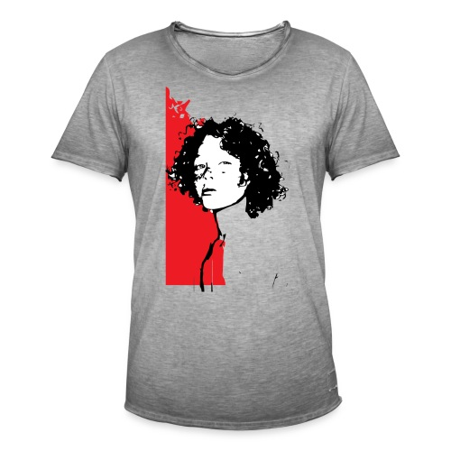 L'enfant rouge représente la terre rouge d'Afrique - T-shirt vintage Homme