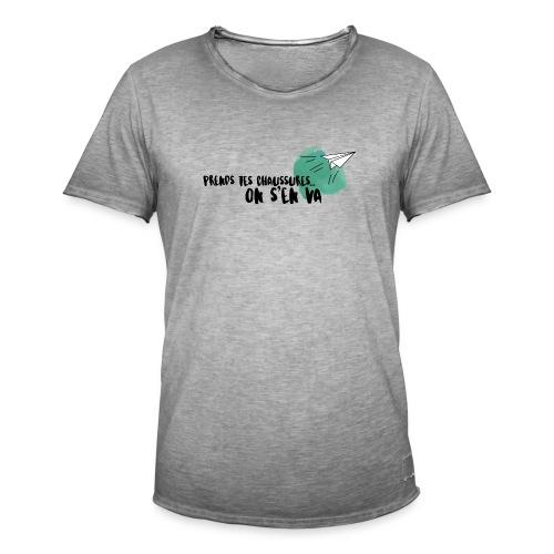 test - T-shirt vintage Homme