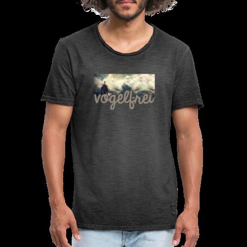 geweihbär Vogelfrei 3 - Männer Vintage T-Shirt