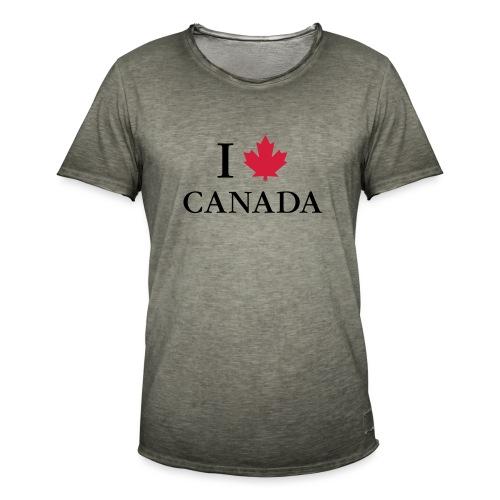 I love Canada Ahornblatt Kanada Vancouver Ottawa - Männer Vintage T-Shirt