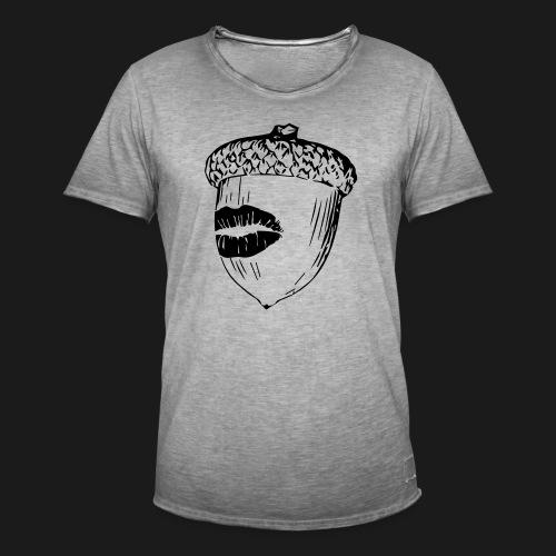 Kuss auf die Eichel [sw] - Männer Vintage T-Shirt
