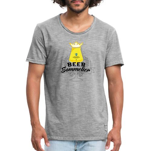 Swedish Beer Sommelier - Chalice - Vintage-T-shirt herr