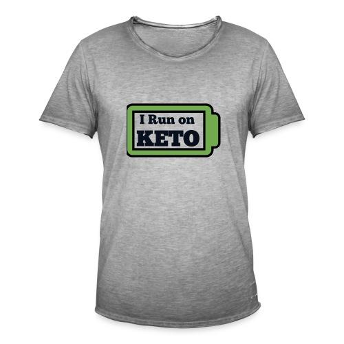 I run on KETO - Mannen Vintage T-shirt