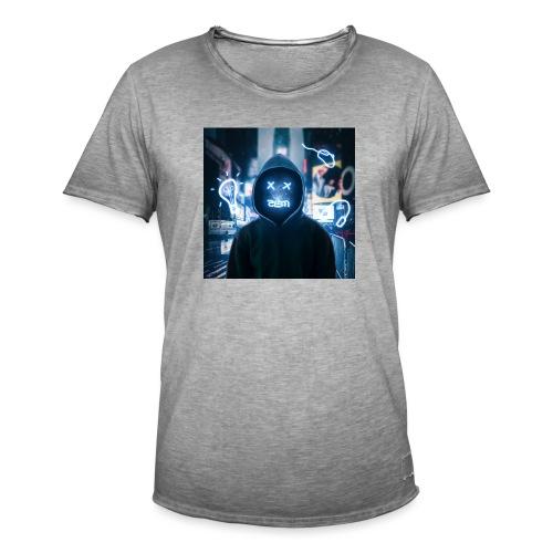 Robot Men - Mannen Vintage T-shirt