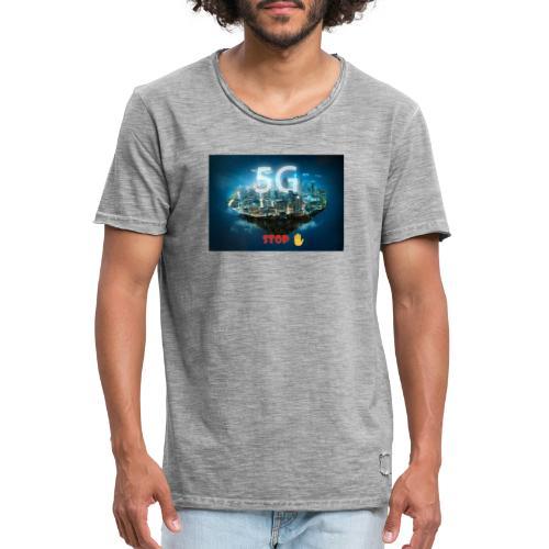 Stop ✋ - Männer Vintage T-Shirt