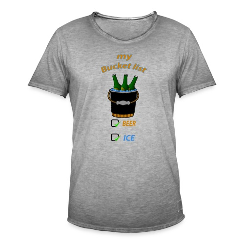 my bucket list - T-shirt vintage Homme