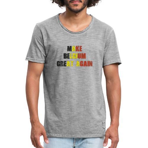 Make Belgium Great Again - Maak België Terug Groot - Mannen Vintage T-shirt