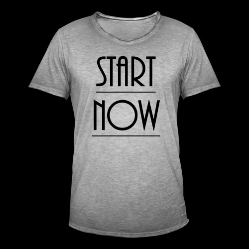 start now - Männer Vintage T-Shirt