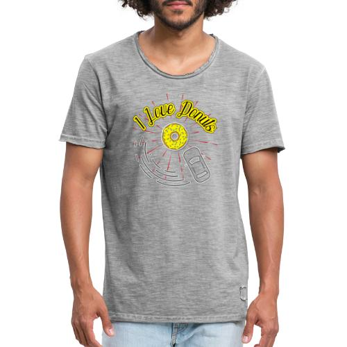 I Love Donuts - Männer Vintage T-Shirt