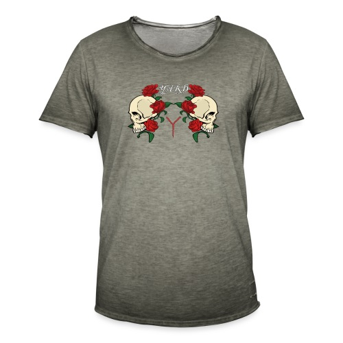 YARD skull and roses - Mannen Vintage T-shirt