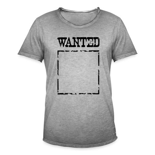Wanted $ Boarder Frame Rahmen -> zum einschreiben - Männer Vintage T-Shirt