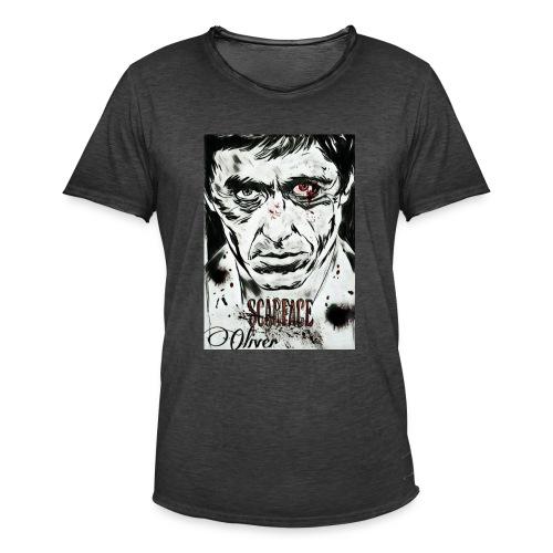 Portrait unique scarface - T-shirt vintage Homme
