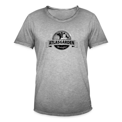 ATLASGÅRDEN Logga i svartvit metallic - Vintage-T-shirt herr