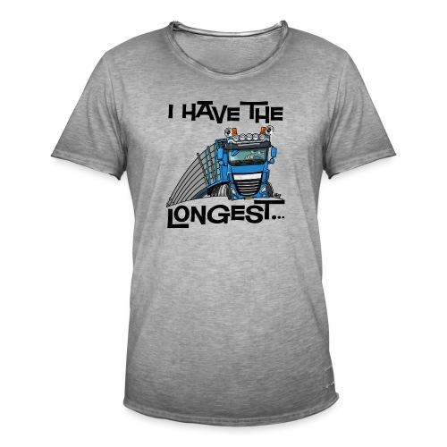 0700 D Truck I have the longest loads (FRONT+BACK) - Mannen Vintage T-shirt